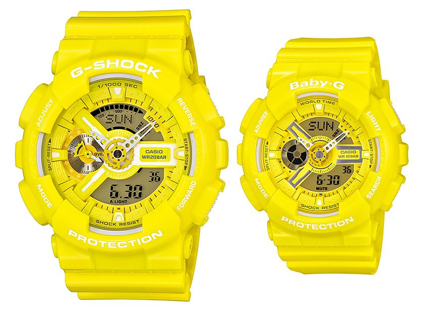 นาฬิกา คาสิโอ Casio G-Shock SETคู่รัก รุ่น GA-110BC-9&BA-110BC-9 Pair set