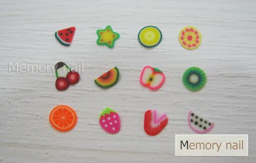 Fimo,ฟีโม่,ฟีโม่ติดเล็บ,ฟีโม่ลายผลไม้,Fimoติดเล็บ,ฟีโม