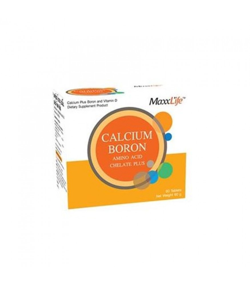 WellGate MaxxLife Calcium Boron Amino Acid Chelate Plus 60s