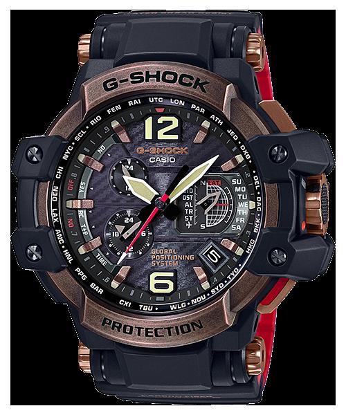 นาฬิกา Casio G-Shock นักบิน GRAVITYMASTER GPS Hybrid Waveceptor Vintage Rose Gold series รุ่น GPW-1000RG-1A ของแท้ รับประกัน1ปี