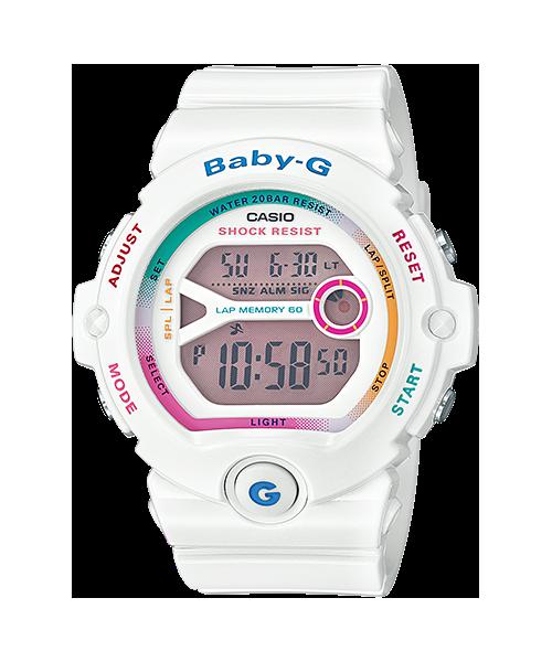 นาฬิกา คาสิโอ Casio Baby-G for Runner Vivid PopColor series รุ่น BG-6903-7C สีขาวรุ้ง ใหม่ล่าสุด!!