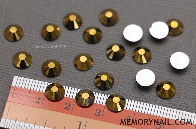 เพชรชวา AA+ สีทอง ซองเล็ก เลือกขนาดด้านใน