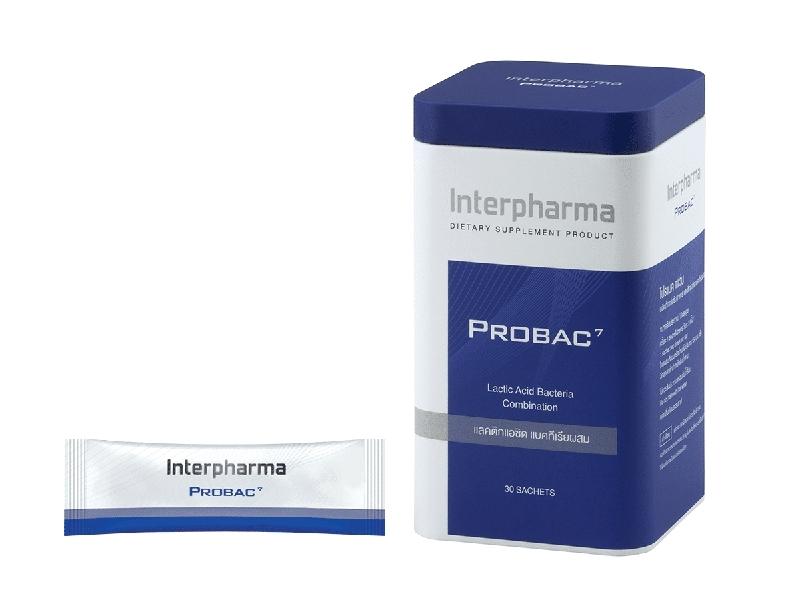 PROBAC7 ผลิตภัณฑ์เสริมอาหาร โปรแบคเซเว่น แลคติกแอซิด แบคทีเรียผสม 30 ซอง 1กล่อง