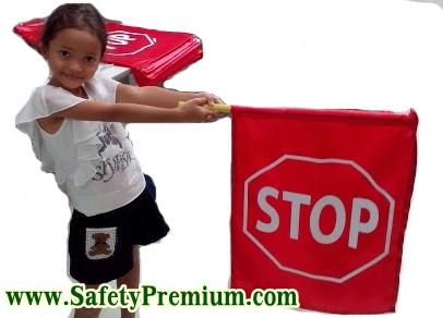 ธงโบกขอทางรถ, ธง STOP, ธงหยุดเพื่อให้ทาง