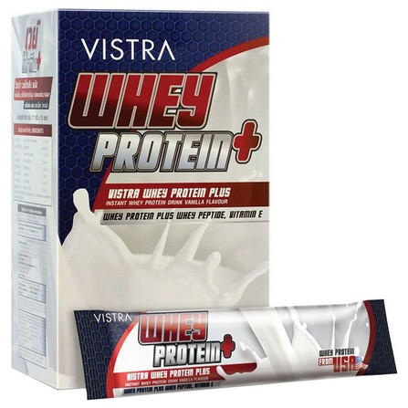 Vistra 3Whey Protein Plus Vitamin Sport Nutrition Vanilla 15 ซอง