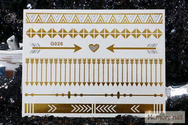 Flash Tattoo , Gold foil metallic tattoos  สติ๊กเกอร์แทททู สีเงิน สีทอง สีทองแดง สีเมทัลลิค