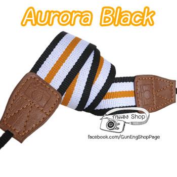 สายคล้องกล้อง Aurora Strap Black (Pre Order)