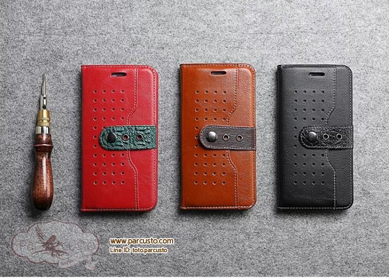 เคสหนังวัวแท้ Apple iPhone 6/6s, 6Plus/6s Plus, 7 และ 7 Plus จาก FIERRE SHANN [Pre-order]