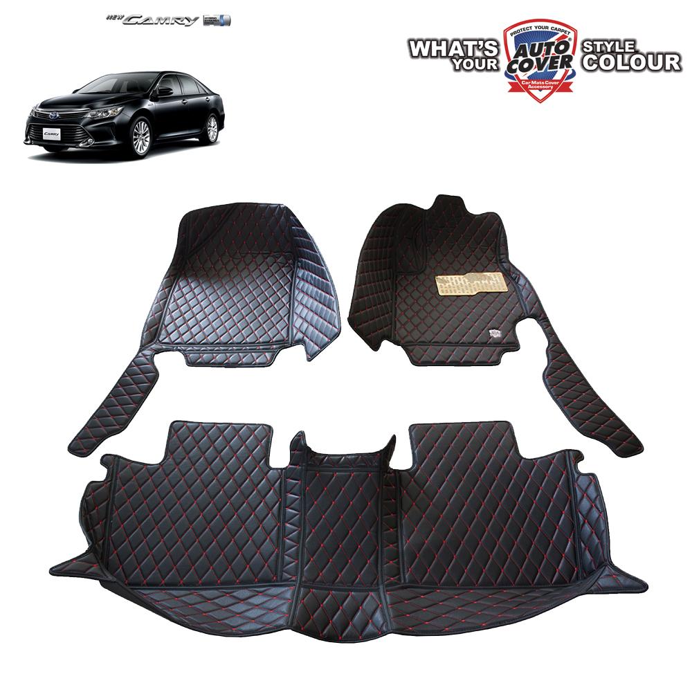 พรมเข้ารูป 6 D Leather Car Mat จำนวน 3 ชิ้น TOYOTA CAMRY 2011-2017