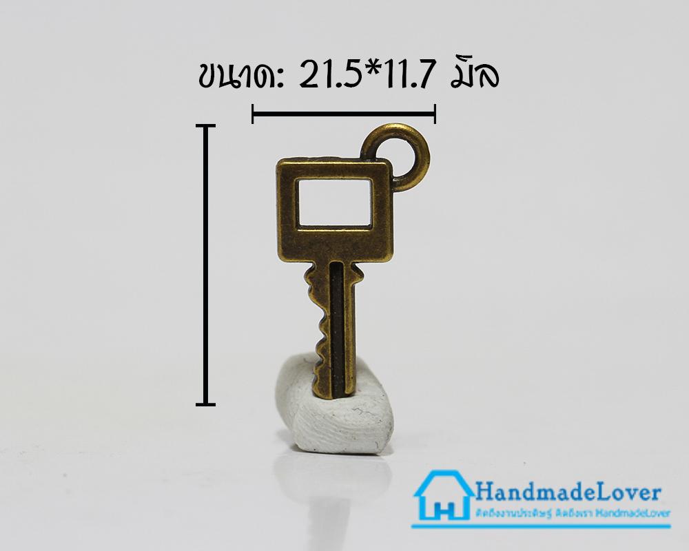 จี้โลหะ วินเทจ สีทองรมดำ รูปลูกกุญแจ