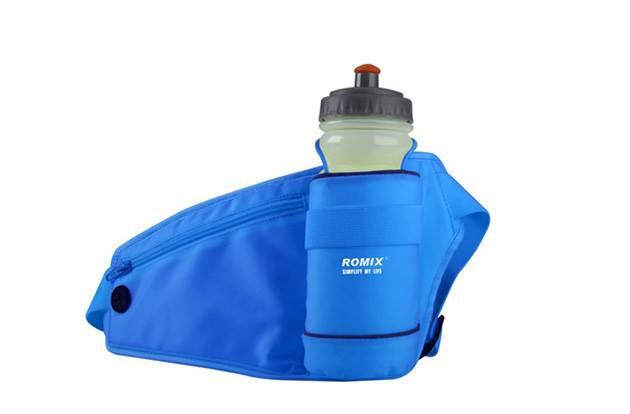 เป้คาดเอวนักวิ่ง Romix สีน้ำเงิน แถมฟรี ขวดน้ำ 500 ml