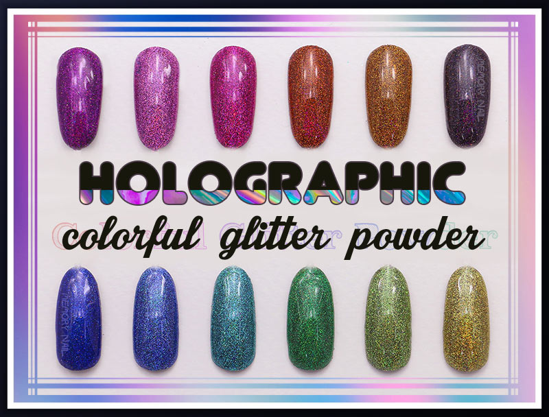 Holographic colorful glitter