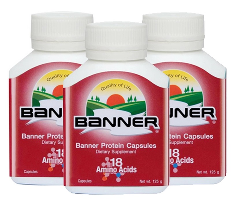 Banner protein capsules 100s 3 ขวด