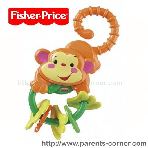 ยางกัดห่วงเขย่า Fisher-Price Rainforest Monkey Teether