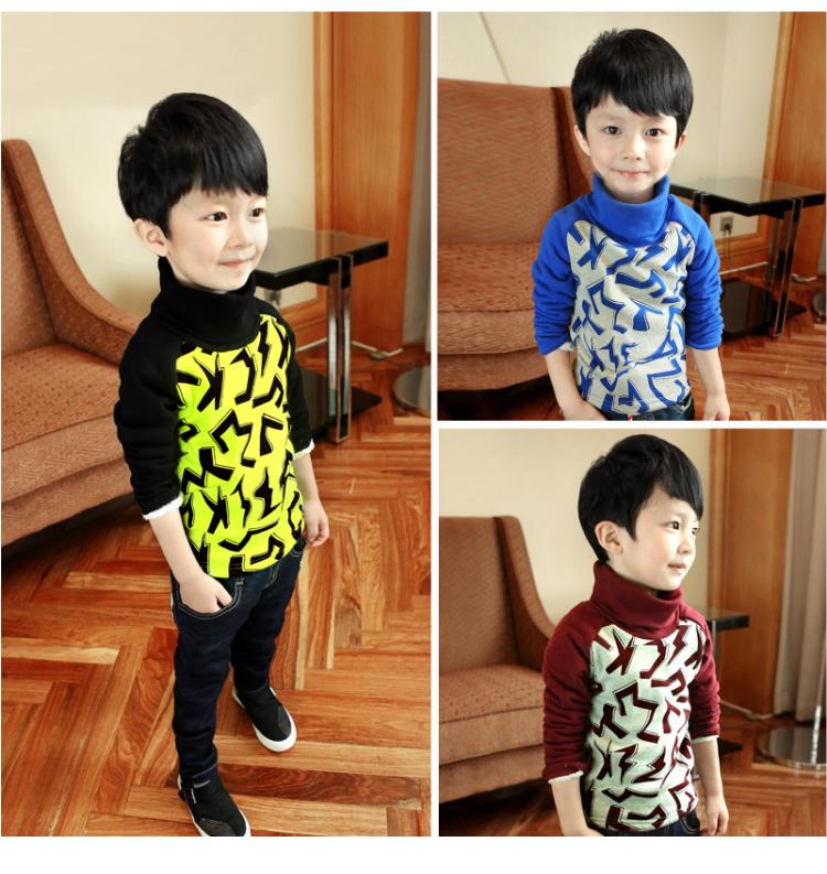 C117-33 เสื้อกันหนาวเด็กชาย พิมพ์ลายสวย ผ้ามีขนนุ่มๆเพิ่มความอบอุ่น สวมใส่สบาย size 110-160