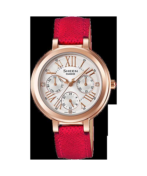 นาฬิกา คาสิโอ Casio SHEEN RED COLOR SERIES รุ่น SHE-3034GL-7B ของแท้ รับประกัน1ปี