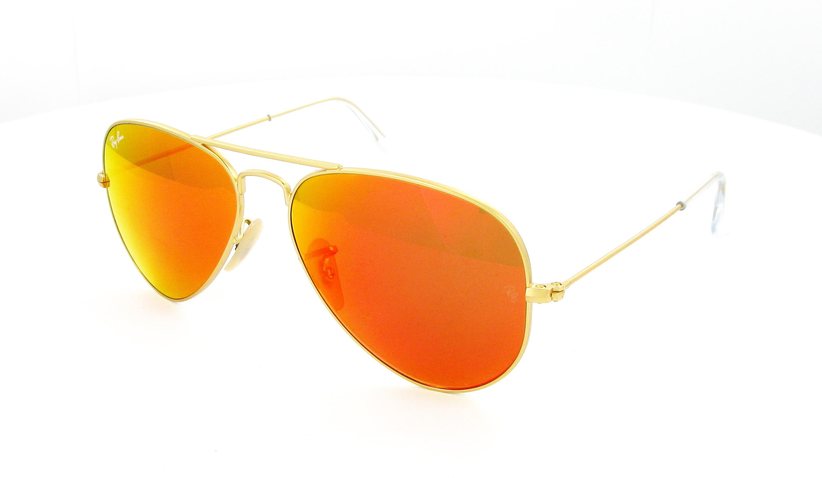 แว่นกันแดด Ray Ban Aviator RB3025 112/69 Crystal Orange Mirror Lens