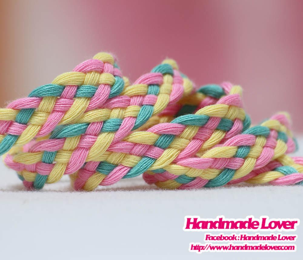 เชือกผ้าถัก สีชมพูพาสเทล [N1] ขนาด 9 มิล