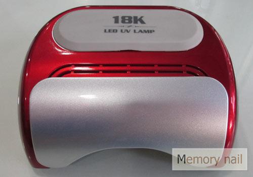 เครื่องอบเจล LED 18K หน้าจอดิจิตอล สีแดง