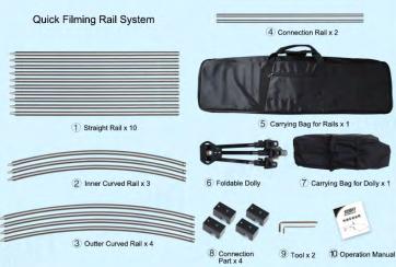 Quick Filming Rail Kit FW-CK8