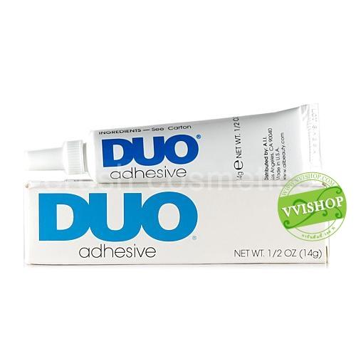 Duo Eyelash Adhesive 14 g White/Clear กาวติดขนตาปลอมดูโอ้ คุณภาพดี เนื้อครีมขาว พอแห้งจะไม่มีสี