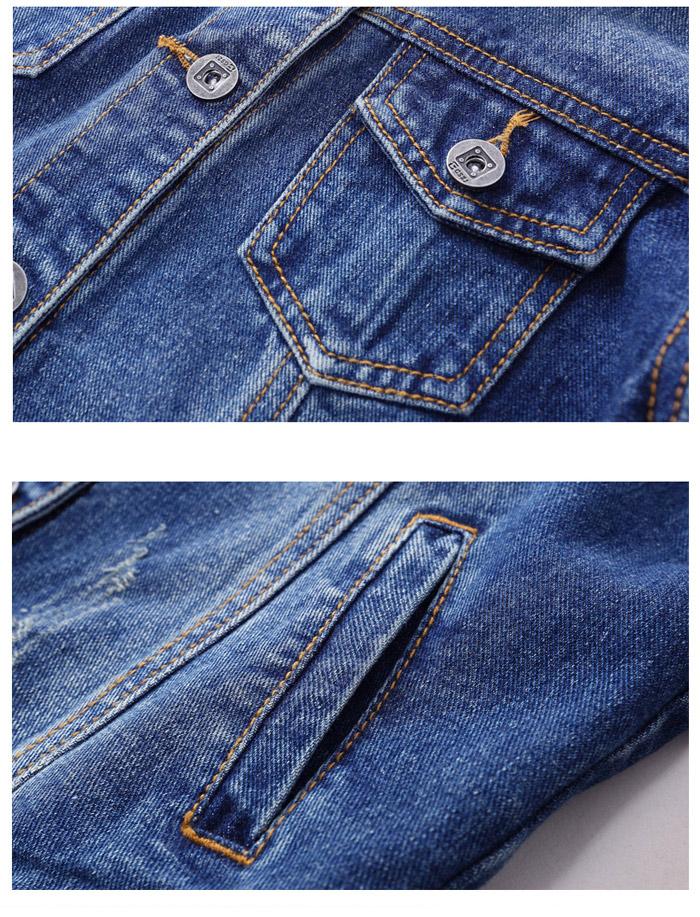 เสื้อยีนส์ผู้หญิง แจ็คเก็ตยีนส์ เสื้อคลุมยีนส์ แฟชั่นสไตล์เกาหลี มีสีน้ำเงินเข้ม สีน้ำเงินซีด สีฟ้าตะพุ่น แขนยาว มีกระเป๋าสองข้าง คอปก ตัวสั้น ผ้ายีนส์สวยๆ ค่ะ ✿ วัสดุ ✿ Denim Cotton สินค้าคัดเกรด Premium Quality 100% คัดเกรด Premium Quality งานนำเข้า 100% เหมือนแบบ คุณภาพดีแน่นอนค่ะ