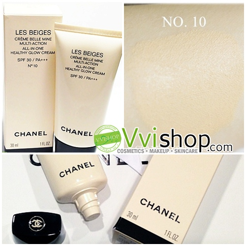Chanel Les Beiges All-in-One Healthy Glow Cream SPF 30 PA+++ 30 ml. # 10 ผิวขาวอมชมพู (ขนาดปกติ In box)
