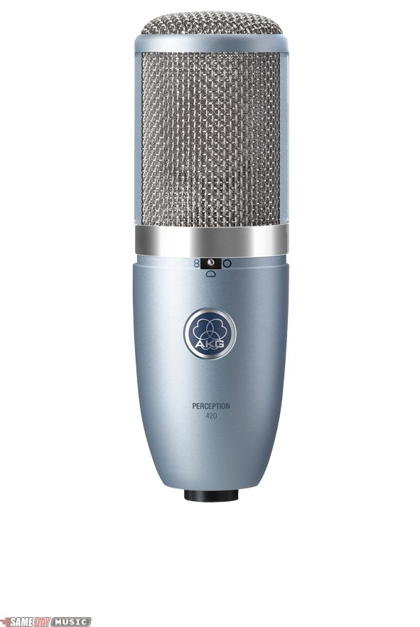 AKG PERCEPTION 420 Professional large-dual-diaphragm true-condenser microphone with switchable polar patterns.