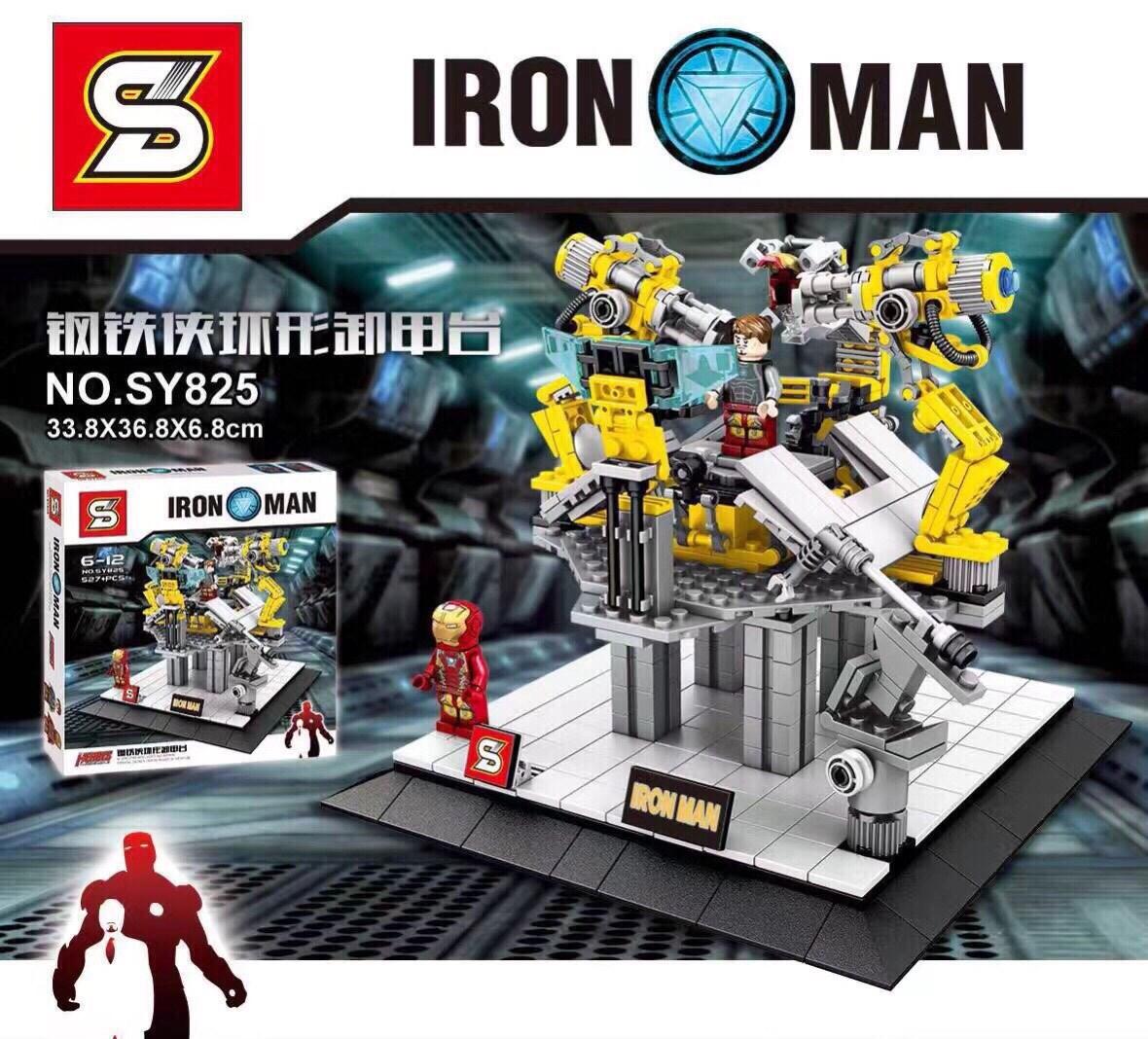 เลโก้จีน SY 825 ชุด IRONMAN Suit Up Stage