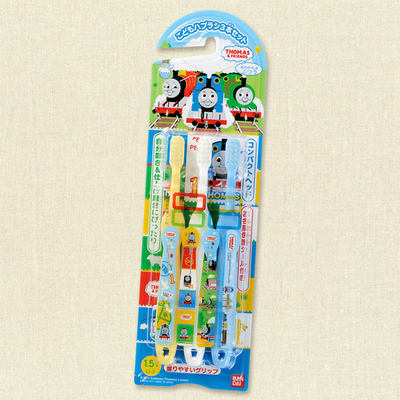ชุดเซทแปรสีฟัน Thomas 3 ชิ้น [JAPAN]