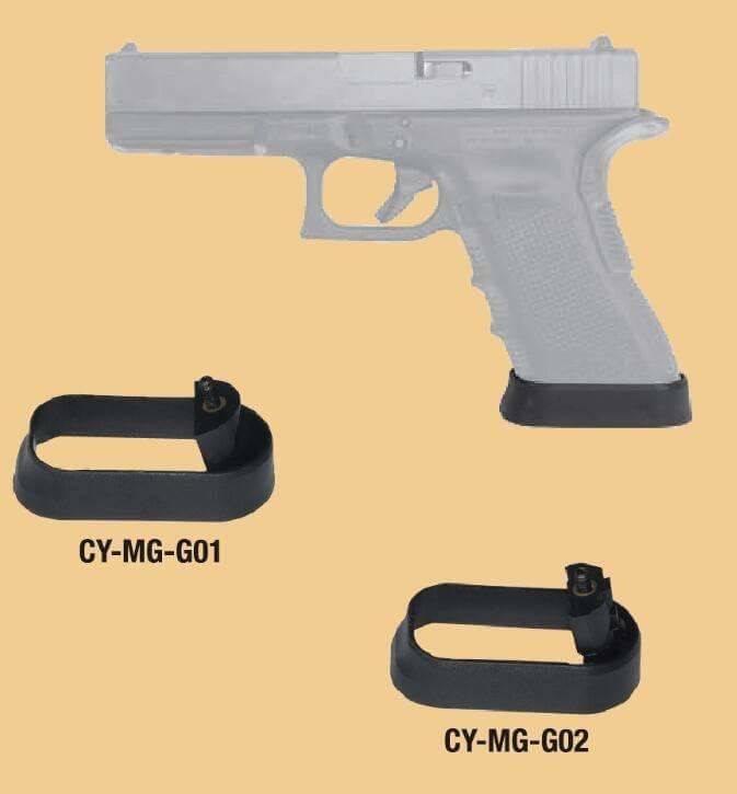 ด้านจับเสริมตัวปืนGlock จากค่าย Cytac ใช้ได้กับปืน Glock Gen 1-3 ใช้เพื่อเพิ่มความกระชับในการจับปืน