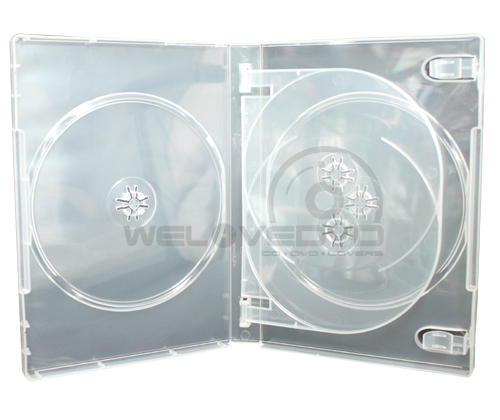 4 Disc DVD Case Clear (10 Boxs)