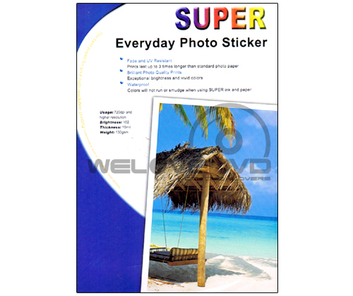 Super Photo Sticker 130 Gsm. A4/100 Sheets ฿310.00