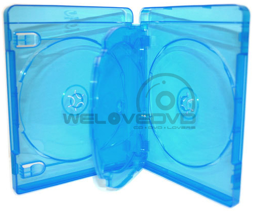 3 Discs Blu-Ray Case with 1 Tray with Blu-ray (10 pcs)