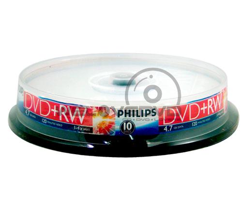 Philips DVD+RW 4X (10 pcs/Cake Box)
