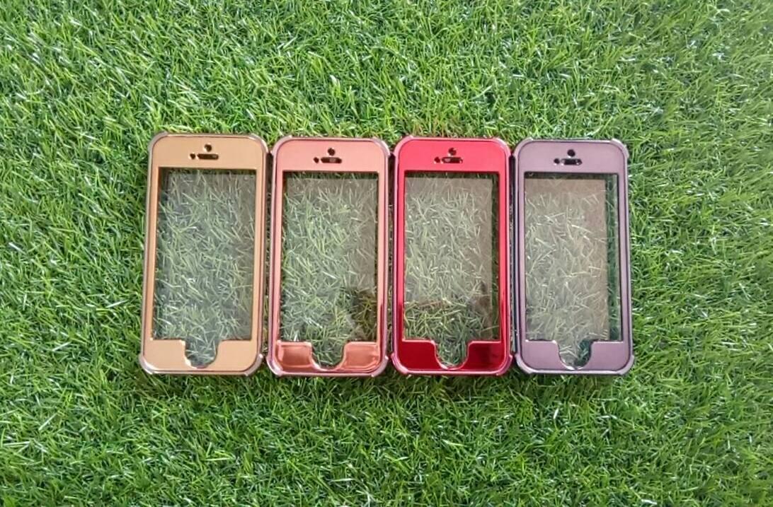 TPU ประกบหน้าหลังโครเมี่ยม iphone5/5s/se