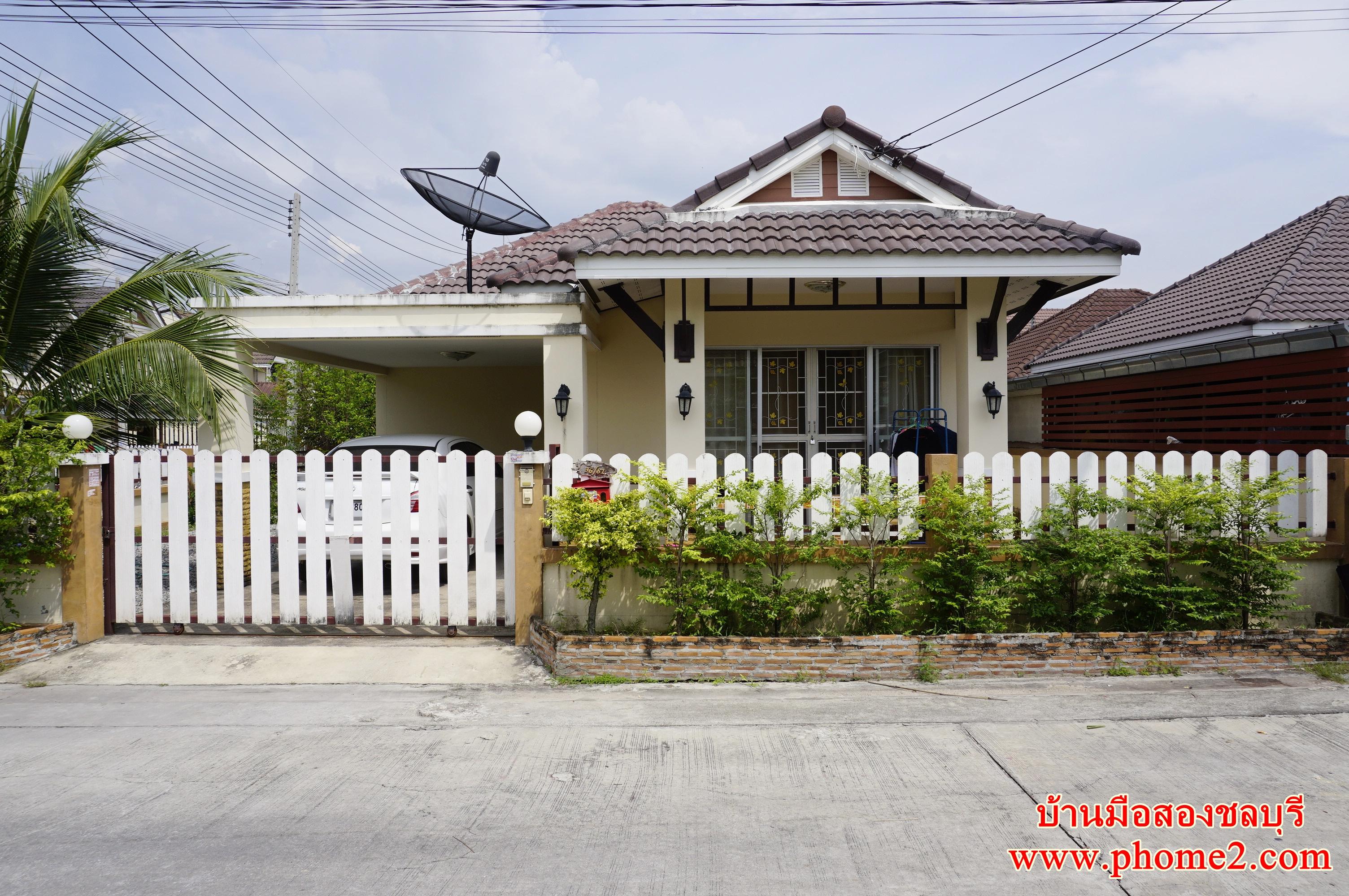 บ้านเดี่ยวชั้นเดียว ม.สินเจริญวิลล่า ต.สำนักบก อ.เมืองชลบุรี
