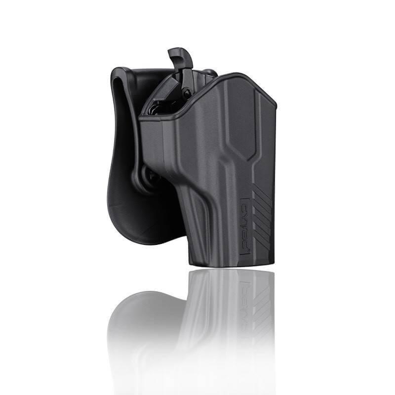 ซองปืน รุ่นT-Thumbsmart Holster จากค่าย Cytac ของปืน P320 ปืนรุ่นที่ใส่ได้ Sig Sauer P320 ใน1ชุด มาพร้อมซองปืนที่สามารถปลดไวออกจากเพลตได้ และ ซองแม็คกระซีนเดี่ยว1ชุด
