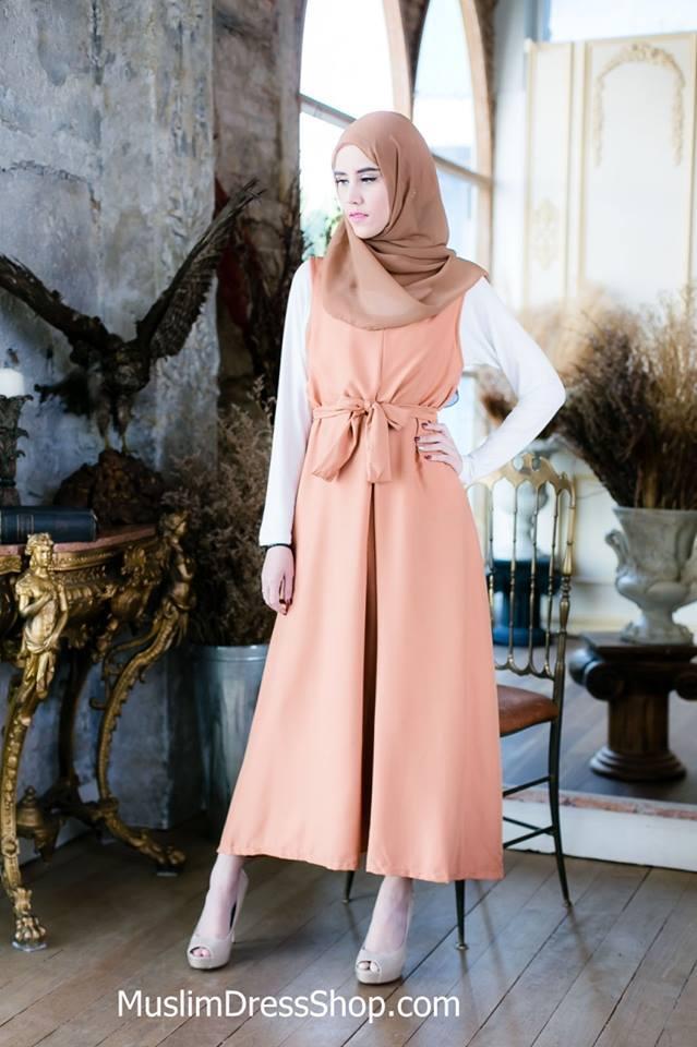 Plain Loose Muslimah Maxi Dress