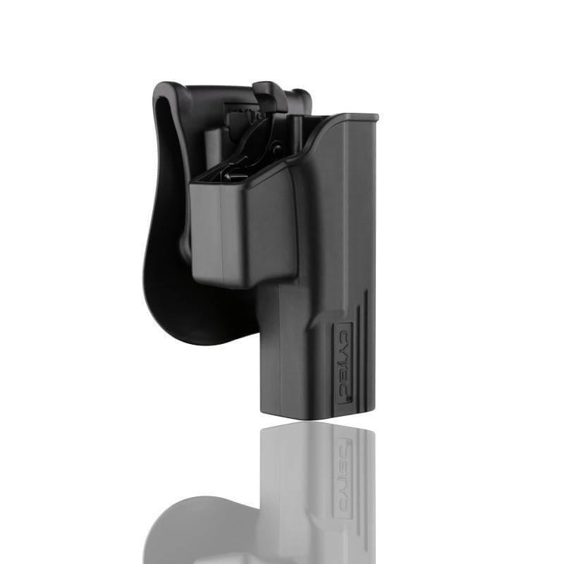 ซองปืน รุ่นT-Thumbsmart Holster จากค่าย Cytac ของปืน Glock 19 ใส่ได้ทั้งปืน Glock 19,23,32(Gen1-4) ใน1ชุด มาพร้อมซองปืนที่สามารถปลดไวออกจากเพลตได้ และ ซองแม็คกระซีนเดี่ยว1ชุด