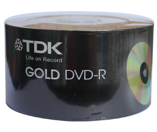 TDK DVD-R 16X Gold (50 pcs/Plastic Wrap)