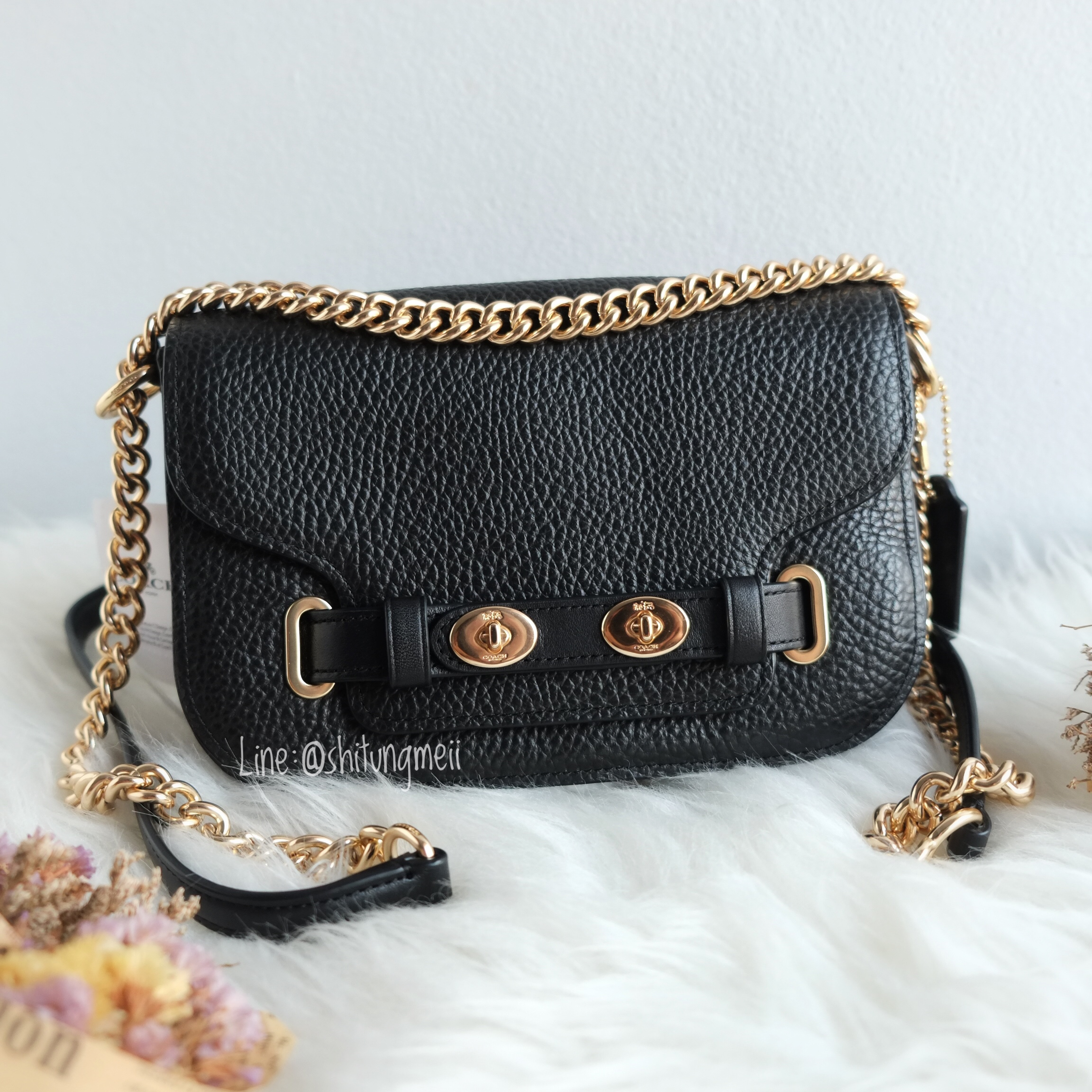 2018 sneakers lower price with better price COACH F32099 BLAKE CROSSBODY 20 - BLACK