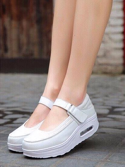 รองเท้าคัชชูสุขภาพ สไตล์สปอร์ต (สีขาว )