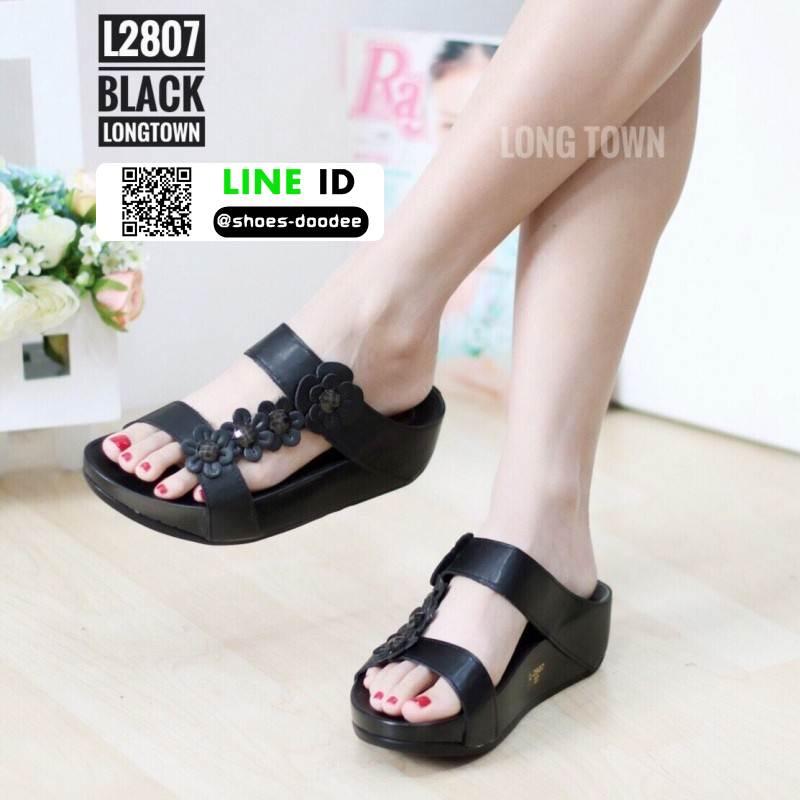 รองเท้าเพื่อสุขภาพ ฟิทฟลอป สายคาดคู่ L2807-BLK [สีดำ]