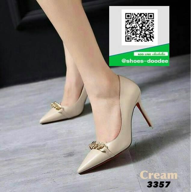รองเท้าคัทชูส้นเข็ม Givenchy 3357-CRE [สีครีม]