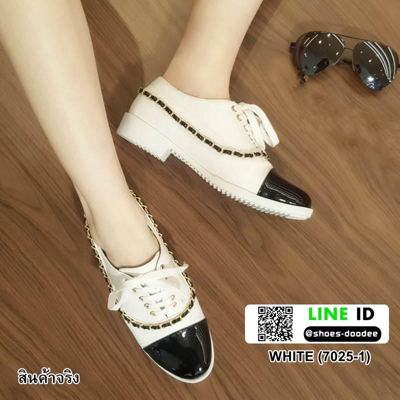 รองเท้าคัทชู สไตล์ชาแนล 7025-1-WHITE [สีขาว]