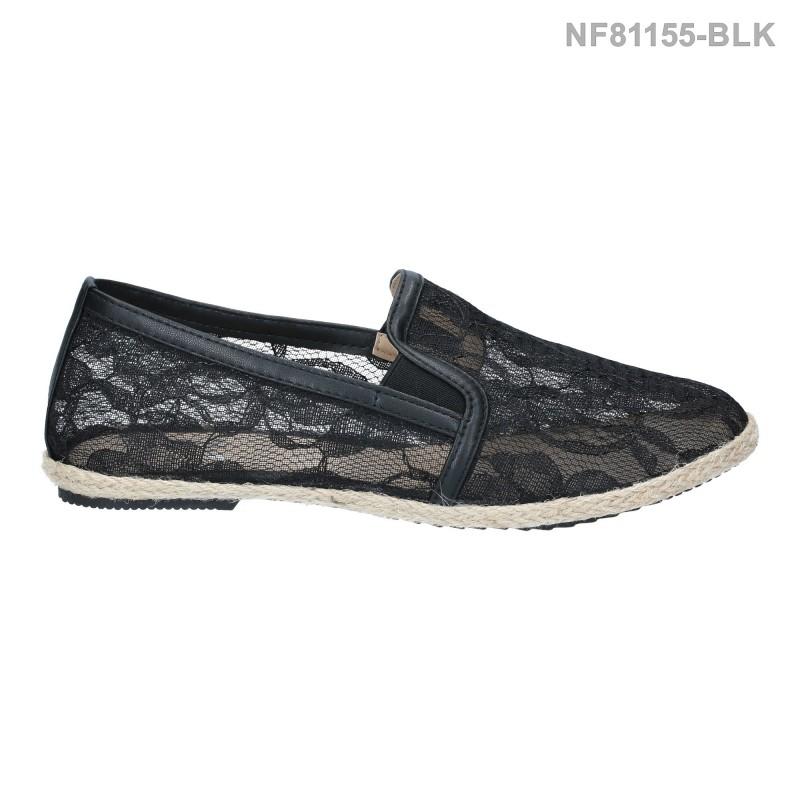 ลดล้างสต๊อก รองเท้าส้นแบน NF81155-BLK [สีดำ]