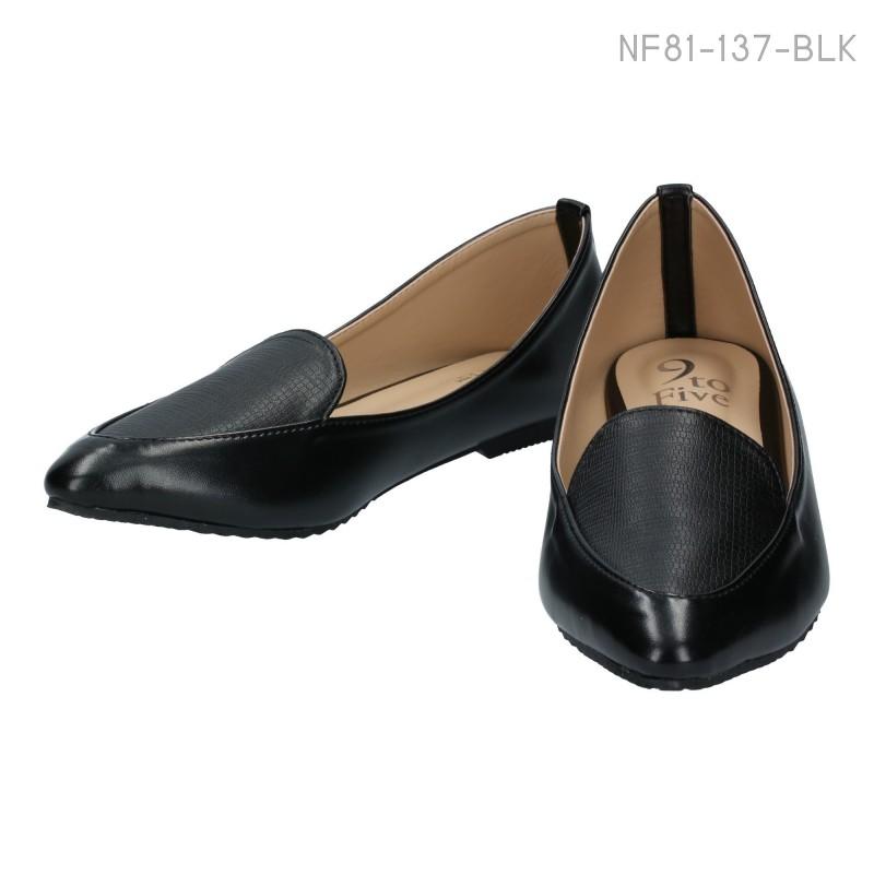 ลดล้างสต๊อก รองเท้าส้นแบน NF81-137-BLK [สีดำ]