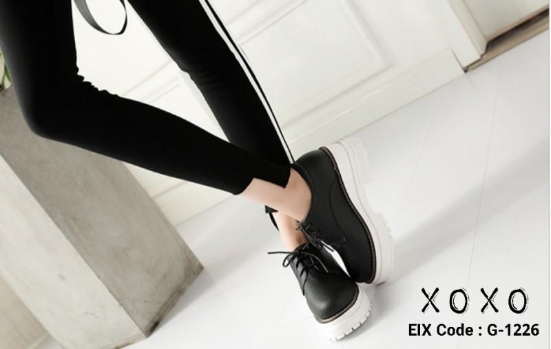 รองเท้าคัทชู PU เรียบ G-1226-BLK [สีดำ]
