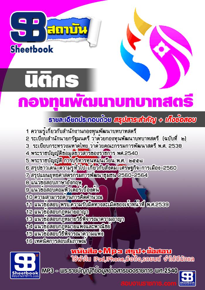 แนวข้อสอบราชการ สำนักงานกองทุนพัฒนาบทบาทสตรี ตำแหน่งนิติกร อัพเดทใหม่ 2560